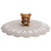 【震撼精品百貨】Rilakkuma San-X 拉拉熊 RILAKKUMA 矽膠杯蓋(灰色)#74389