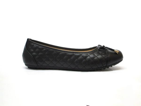 ★901❤ 愛麗絲的最愛☆.☆ 氣質款~舒適軟底金屬搭配甜心菱格紋平底娃娃鞋/平底包鞋