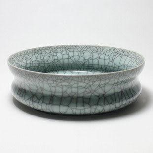 龍泉青瓷茶洗陶瓷花盆大號