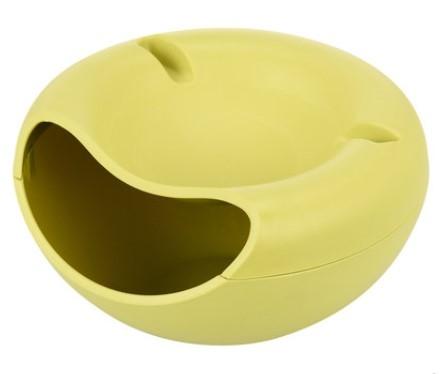 [超豐國際]塑料雙層瓜子盤家用干果盤 懶人嗑瓜子干果盒瓜子盒零食