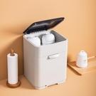 放碗筷子收納箱瀝帶蓋雙層家用廚房碗櫃置物架瀝水架裝碗碟收納盒 亞斯藍