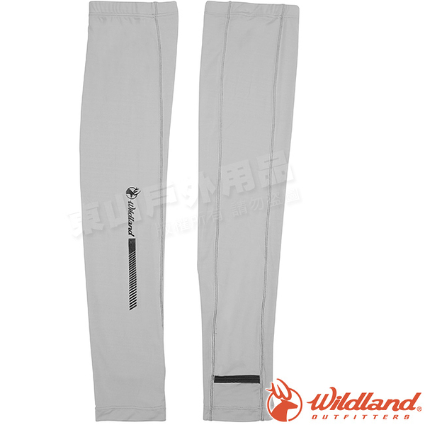 Wildland 荒野 W1810-90灰色 中性開洞抗UV透氣袖套 抗UV遮陽手套/快乾機車手套/單車防曬袖套*