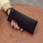 新款韓版頭層牛皮長款超薄時尚簡約軟皮錢包PLL3976【男人與流行】