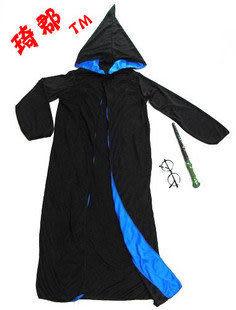 萬聖節主題服裝魔法服哈利披風藍邊