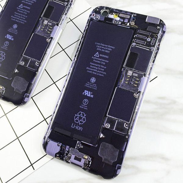 [24hr-現貨快出] iPhone7 6s plus 創意 偽裝 拆機 電路板 全包邊 個性 軟殼 惡搞