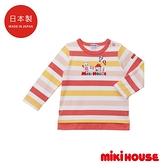 MIKI HOUSE 日本製 普奇熊長袖T恤(粉)