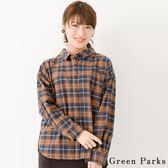 ❖ Hot item ❖ 休閒感格紋襯衫上衣 - Green Parks