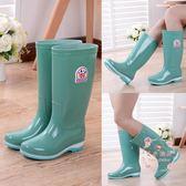 雨鞋 四季女中筒防滑耐磨成人水靴耐酸堿膠鞋水鞋