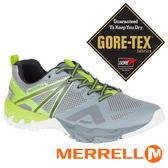 【MERRELL 美國】MQM FLEX男GORE-TEX多功能健行鞋『淺灰/亮綠』98307 多功能鞋.登山鞋