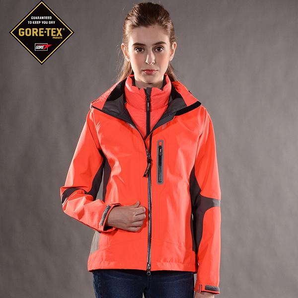 防水防風GORE-TEX+潑水羽絨二合一外套