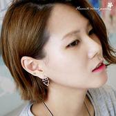 幾何三角掛式耳環 10124【櫻桃飾品】【10124】