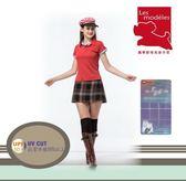 【瑪蒂斯】女款短袖大紅前襟配色款 黑絲絨奈米竹炭纖維POLO衫G6222/G6223