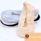 5雙 蕾絲船襪女短襪低幫淺口薄款隱形襪防滑硅膠不掉跟純棉襪子女【小獅子】