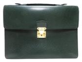 LV LOUIS VUITTON 路易威登 深綠色Taiga皮革手拿包 公事包 M30074 【BRAND OFF】