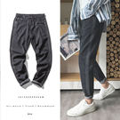 經典復古素色邊條紋造型百搭休閒牛仔褲...