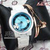 RELAX TIME 關詩敏 Garden系列 蝴蝶紛飛 鏤空陶瓷腕錶 防水錶 贈手環 白x藍 RT-80-5