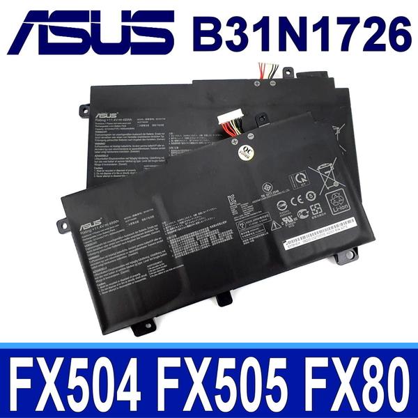 ASUS B31N1726 . 電池 FX505DT FX80 FX80G FX80GD FX80GE FX80GM FX86 FX86FE FX86FM PX504GD PX505GD PX505GE