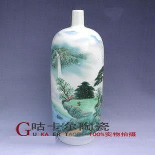 景德鎮 陶瓷器 花瓶 田野風光
