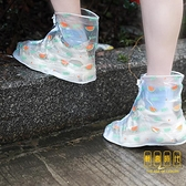 韓國雨鞋可攜帶的防水外穿鞋套女防滑防雨耐磨加厚套鞋【輕奢時代】