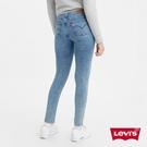 Levis 女款 721高腰緊身窄管牛仔長褲 / 義大利CANDIANI頂級丹寧 / 輕藍染雪花水洗 / 彈性布料