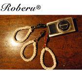 亞麻手工編織 相機手腕帶-皮環【日本ROBERU】適微單眼/輕便相機