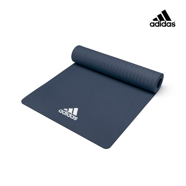 Adidas Yoga輕量波紋瑜珈墊 - 8mm (曬圖藍)