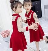 女童洋裝 女童連身裙春秋2020新款韓版洋氣兒童裙子秋裝小女孩長袖公主童裝 零度3C
