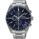 SEIKO 精工 Criteria 太陽能計時手錶-藍x銀/42mm V176-0AZ0B(SSC727P1)