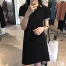 polo洋裝氣質黑色桔梗裙子polo裙小個子很仙的智熏裙法國小眾連身裙夏顯瘦 伊蒂斯