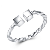 925純銀戒指-方塊設計生日情人節禮物女配件73an75【巴黎精品】