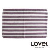 里和Riho LOVEL簡約條紋純棉浴墊/地墊(條紋紫) 腳踏墊 防滑墊