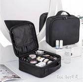 化妝包女大容量多功能簡約便攜網紅旅行化妝箱專業化妝師跟妝包 QG14578『Bad boy時尚』