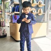 寶寶西裝2018新款套裝三件套兒童男童西服小孩加絨英倫風花童禮服