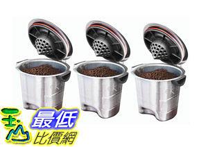 [104美國直購] 咖啡杯 Ekobrew Elite Stainless Steel Refillable For Keurig K-Cup Brewers 3-Count B00DV4F1VA