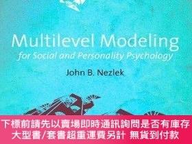 二手書博民逛書店Multilevel罕見Modeling For Social And Personality Psycholog