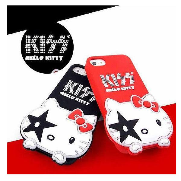 iPhone SE/5/5S/5C Sanrio Hello Kitty x Kiss 聯名款 立體造型 軟式保護套