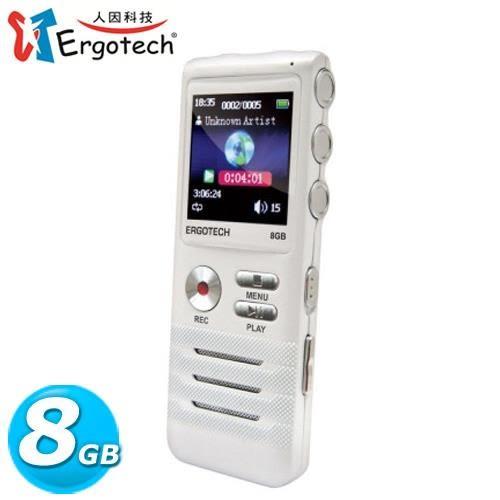 Ergotech 人因 VR74CW 零壓縮無損音質錄音筆 8G