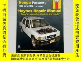 二手書博民逛書店lSUZU罕見Rodeo&Amigo Honda Passport1989thru2002Y254853 HA