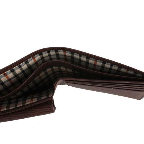 DAKS防刮皮革壓扣零錢袋短夾(咖啡色)231224-08