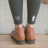 內搭褲  SNAP箭頭字母刺繡腰頭條紋綿質內搭褲  原單三色-小C館日系