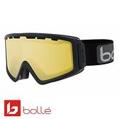 法國 Bolle Z5 OTG 雙層鏡片設計 防霧雪鏡 亮麗黑/暗檸檬黃 #21501