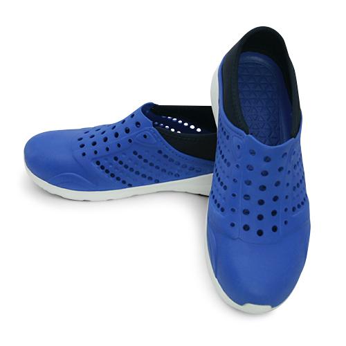 LIKA夢 LOTTO 排水透氣潮流洞洞休閒鞋 涼、拖鞋 LIFESTYLE 2 藍 5366 男