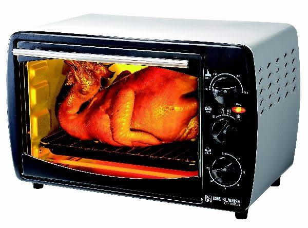 《鍋寶》雙旋紐不鏽鋼18L電烤箱 OV-1802-D《刷卡分期+免運費》