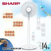 【SHARP 夏普】14吋豪華型。DC變頻定時立扇 PJ-S14GA