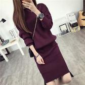 加厚毛線裙套裝兩件套2018秋裝時髦套裝針織衫網紅毛衣初秋溫柔風