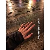 情侶戒指 簡約港風個性指小眾環男女款不銹鋼情侶戒指