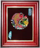 鹿港窯-交趾陶居家開運裝飾壁飾~S連年有餘