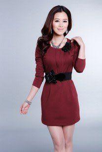 春裝新款女裝時尚熱賣修身優雅氣質都市休閑連衣裙 605