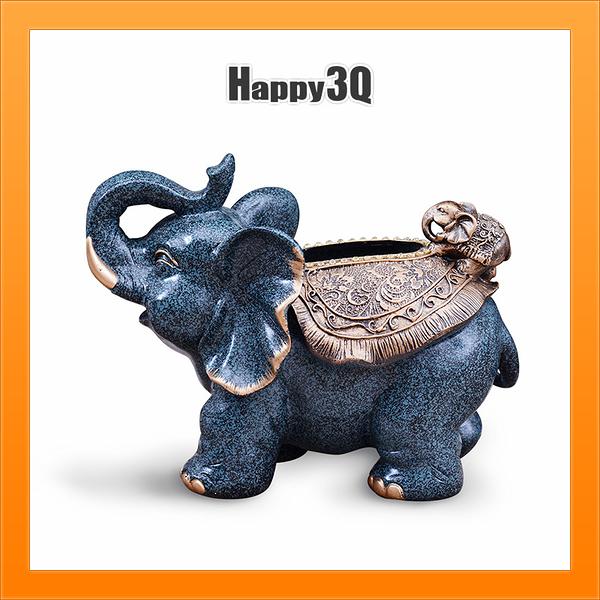 大象衛生紙盒客廳創意歐式紙巾盒茶几奢華復古裝飾紙抽盒-多色【AAA4936】預購