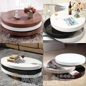 多功能茶几 創意個性折疊旋轉伸縮橢圓形茶幾小戶型客廳黑白色烤漆電視櫃茶桌 DF 免運 維多